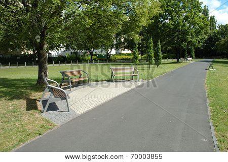 Footpath In Park