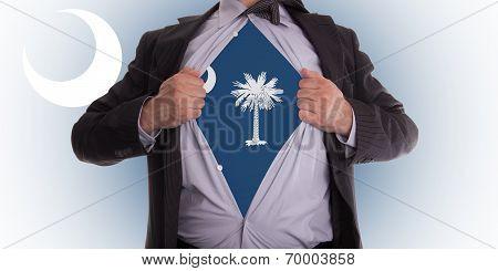 Businessman With South Carolina Flag T-shirt