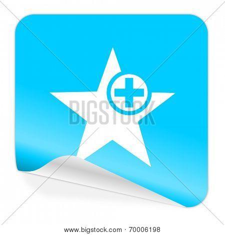 star blue sticker icon