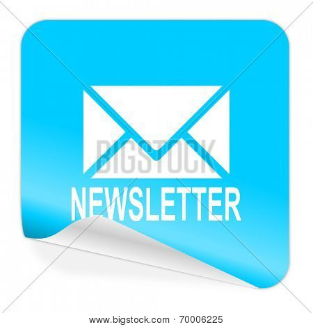 newsletter blue sticker icon
