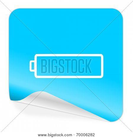 battery blue sticker icon