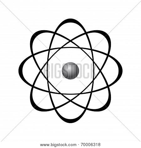 Abstract Model Of Atom Isolated On White Background
