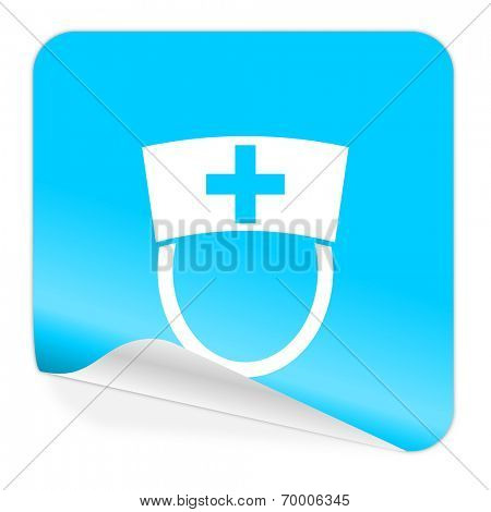 nurse blue sticker icon
