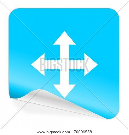 arrow blue sticker icon