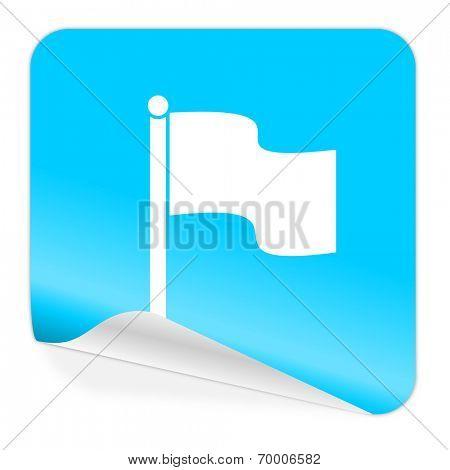flag blue sticker icon
