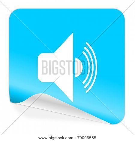 volume blue sticker icon