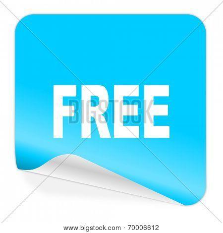free blue sticker icon