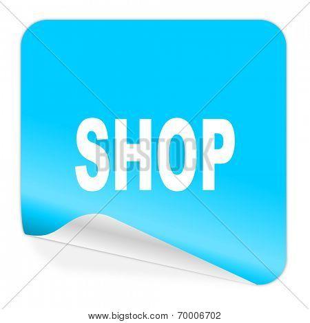 shop blue sticker icon