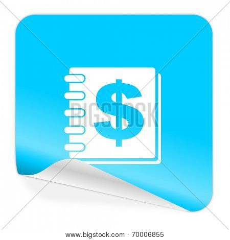 money blue sticker icon
