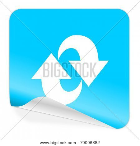 rotation blue sticker icon
