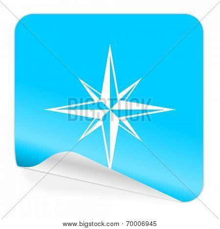 compass blue sticker icon
