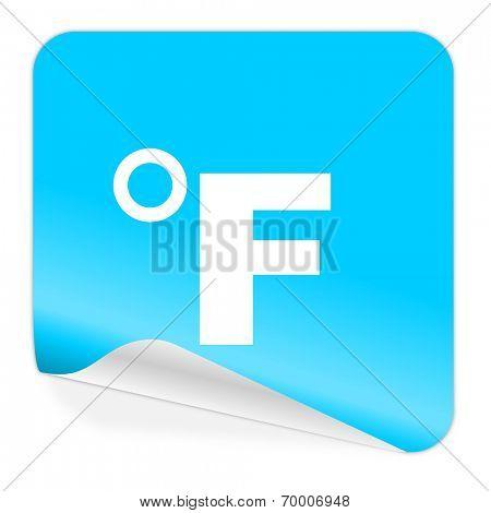 fahrenheit blue sticker icon