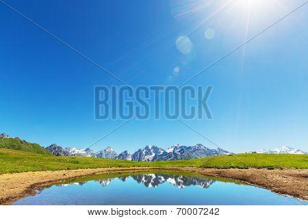 Koruldi mountain lake, Georgia, Svaneti