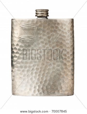 Old Pewter Flask