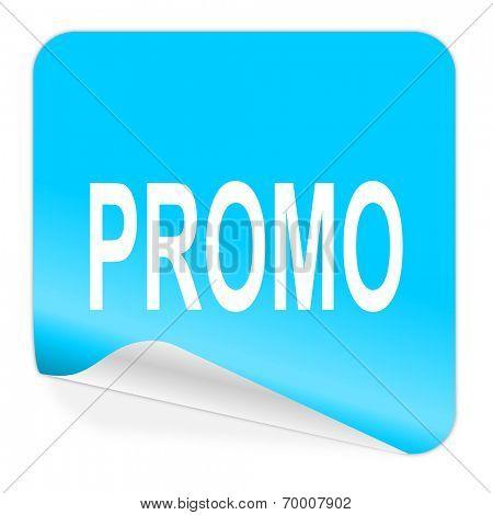 promo blue sticker icon