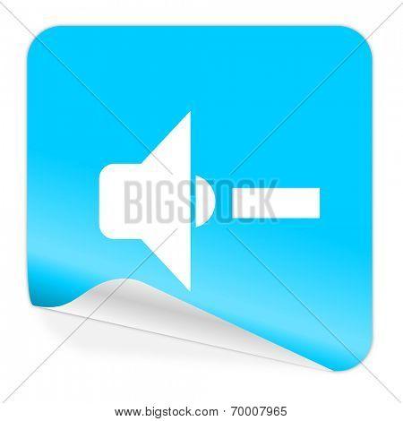 speaker volume blue sticker icon