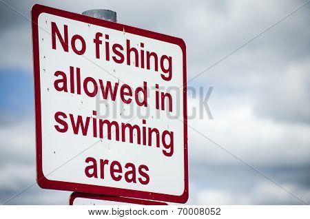 no fishing sign