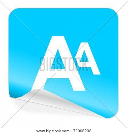 alphabet blue sticker icon