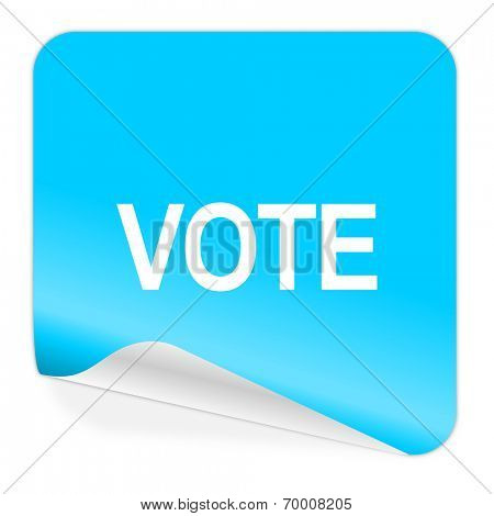vote blue sticker icon