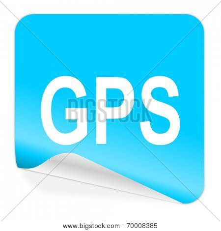 gps blue sticker icon
