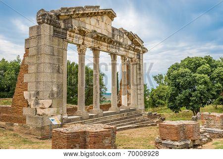Temple Ruins In Apollonia.