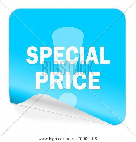 special price blue sticker icon