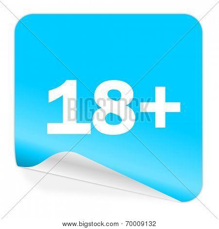 adults blue sticker icon