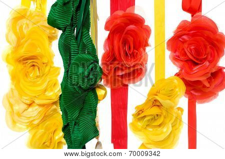 Colorful artificial flower made of silk