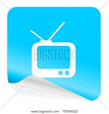 tv blue sticker icon