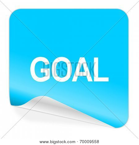 goal blue sticker icon