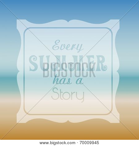 Summer themed background with typography