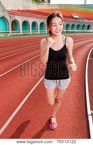 Chinese Woman Jogging