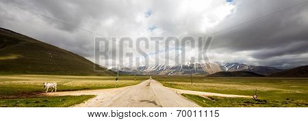 Bad Weather On The Road To Castelluccio, Italy