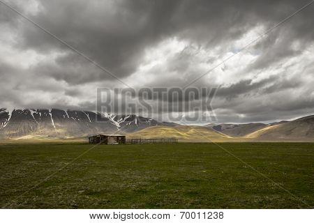An Isolated Shack In The Middle Of Nowhere