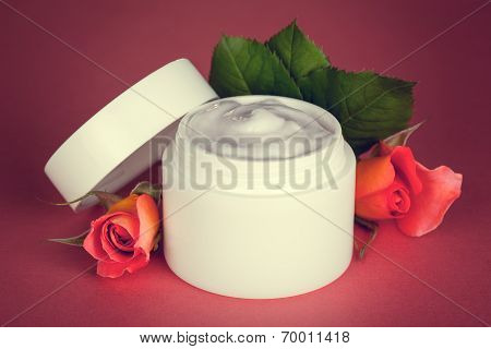 Cream With Roses