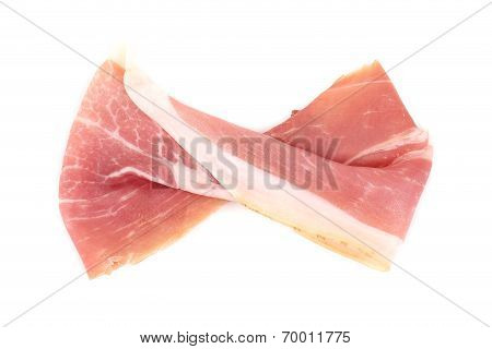 Slice of Delicious Prosciutto as Ribbon.