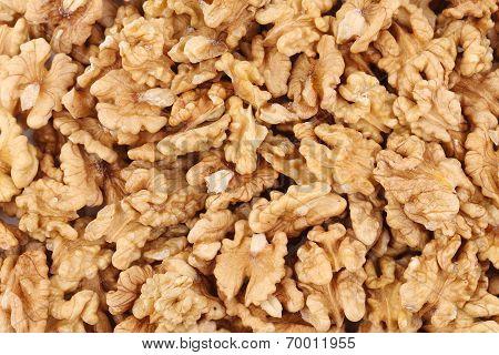 Texture of walnuts close up.