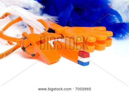 Orange Accessories For Dutch Soccer Game