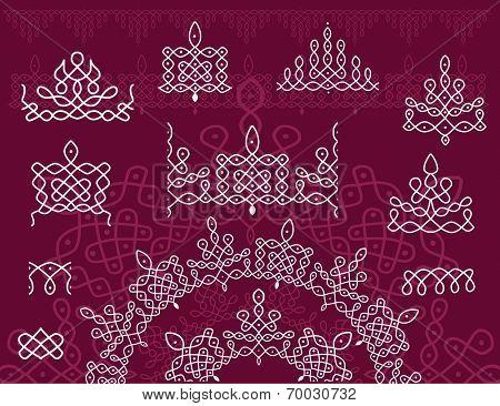 Pattern brash Rangoli
