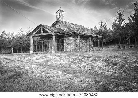 old church in the mountain