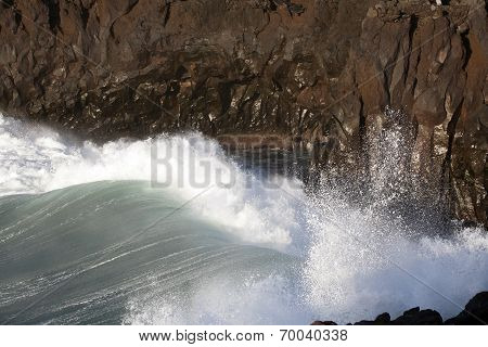 Waves At The Stormy Coast