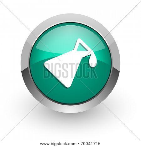 chemistry green glossy web icon