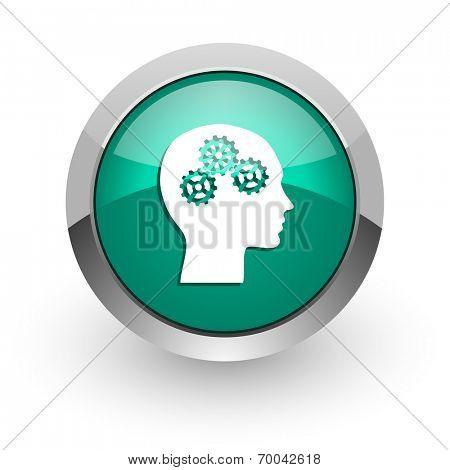 head green glossy web icon
