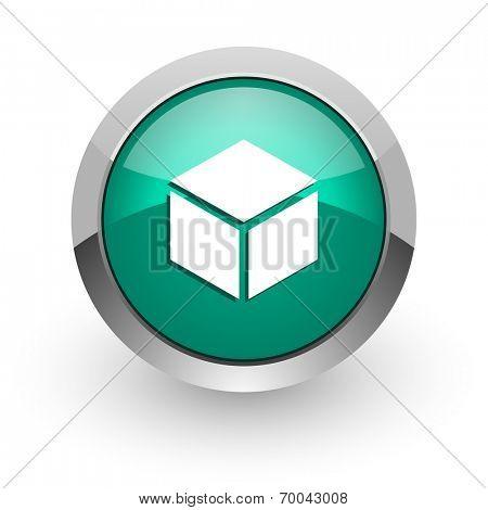 box green glossy web icon