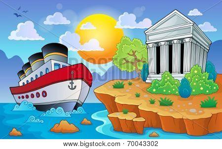 Greek theme image 9 - eps10 vector illustration.