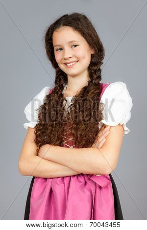 An image of a sweet traditional bavarian girl