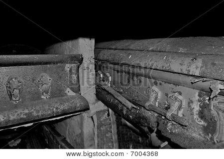Coffins hidden in a sarcophagus