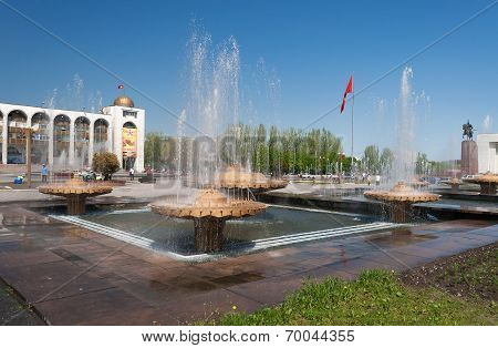 Fountain On Ala-too Square