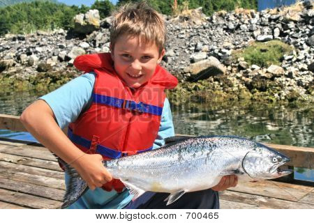 Salmon And Boy