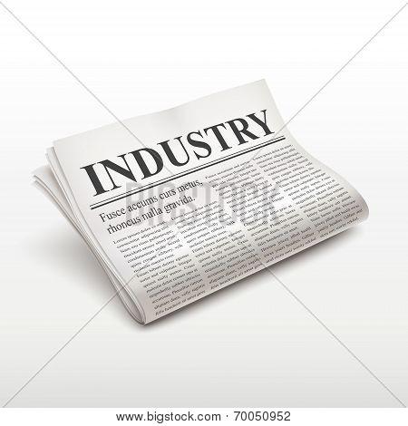 Industry Word On Newspaper